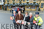 The annual sponsored St. Stephen's Day walk for the Kerry Hospice Foundation was launched at Kirby's Brogue Inn, Tralee on Monday morning Pictured l-r  Ted Moynihan, Kerry Hospice Foundation, Michael Fox O'Connor, Fiona Kirby-Cotter, Michael Gaffney, Garda Kathy Murphy