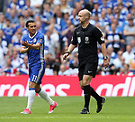 Pedro of Chelsea complains that the first goal was handball during the Emirates FA Cup Final match at Wembley Stadium, London. Picture date: May 27th, 2017.Picture credit should read: David Klein/Sportimage