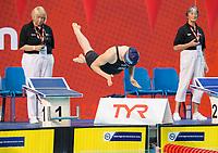 Picture by Allan McKenzie/SWpix.com - 16/12/2017 - Swimming - Swim England Nationals - Swim England Winter Championships - Ponds Forge International Sports Centre, Sheffield, England - Ammabel Guye-Johnson dives in.
