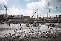 Berlin, Die Bauarbeiten am neuen Berliner Stadtschloss am Mittwoch (11.06.13) am Schlossplatz in Berlin. Foto: Maja Hitij/CommonLens