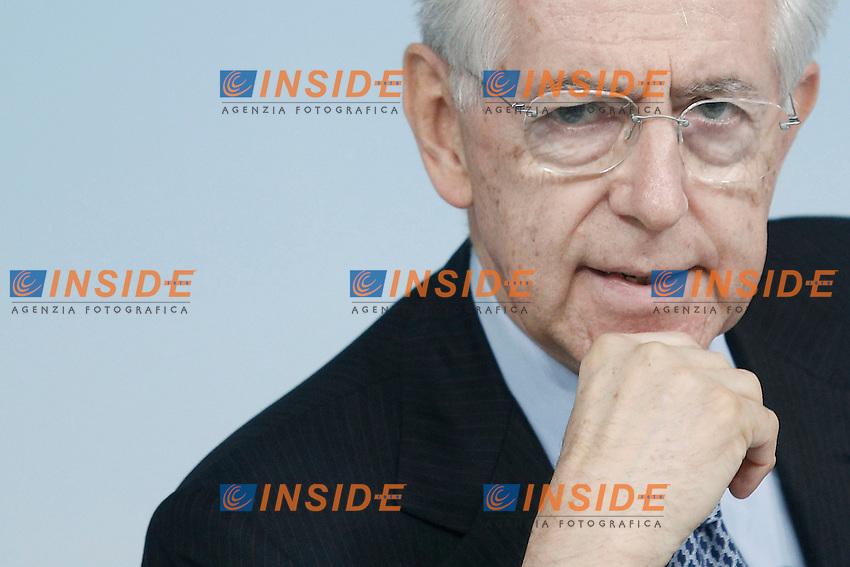 Il Presidente del Consiglio Mario Monti.Roma 20/07/2012 Conferenza stampa al termine del Consiglio dei Ministri.Foto Serena Cremaschi Insidefoto