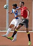 CD Leganes' Juan Munoz (l) and Rayo Vallecano's Alejandro Catena during friendly match. July 13,2018. (ALTERPHOTOS/Acero)