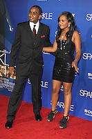 HOLLYWOOD, CA - AUGUST 16: Nick Gordon and Bobbi Kristina Brown at the 'Sparkle' film premiere at Grauman's Chinese Theatre on August 16, 2012 in Hollywood, California. © mpi26/MediaPunch Inc. /NortePhoto.com<br />