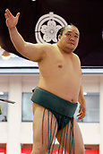 April 17th 2017, Tokyo, Japan;  Kitataiki, Sumo : Annual sumo tournament dedicated to the Yasukuni Shrine in Tokyo Japan.