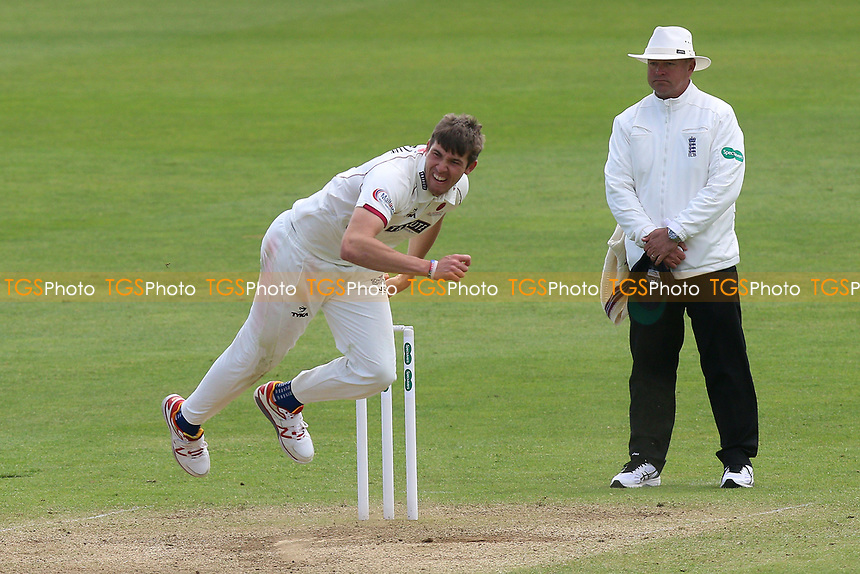 Jamie Overton in bowling action for Somerset during Somerset CCC vs Essex CCC, Specsavers County Championship Division 1 Cricket at The Cooper Associates County Ground on 15th April 2017