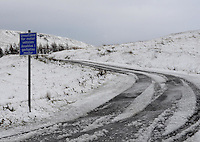 Weather Uk Snow Wales<br /> Sunday 20th November 2016<br /> Snow at Pontlottyn in South Wales