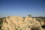 Israel, Jerusalem Mountains, ruins of the Crusader fortress Belmont on Mount Tzuba