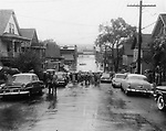 Foot of West Main Street looking towards the city. 19 August 1955, Waterbury
