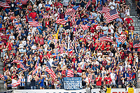 KANSAS CITY, KS - JUNE 26: US fans during a game between United States and Panama at Children's Mercy Park on June 26, 2019 in Kansas City, Kansas.