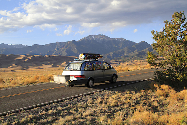 Visitors at Great Sand Dunes National Park, Alamosa, Colorado, John offers private photo trips to Great Sand Dunes National Park and all of Colorado. All year long.