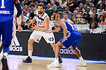 Real Madrid's Sergio Llull and Anadolu Efes's Jayson Granger during Turkish Airlines Euroleague match between Real Madrid and Anadolu Efes at Wizink Center in Madrid, April 07, 2017. Spain.<br /> (ALTERPHOTOS/BorjaB.Hojas)