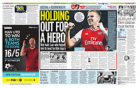 Sunday People - 06-Oct-2019 - 'HOLDING OUT FOR A HERO' - Photo by Rob Newell (Camerasport via Getty Images)