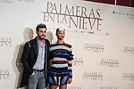 "Mario Casas and Berta Vazquez during the presentation of the film ""Palmeras en la nieve"" in Madrid, December 16, 2015. <br /> (ALTERPHOTOS/BorjaB.Hojas)"