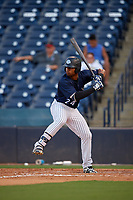 Tampa Tarpons Isiah Gilliam (24) at bat during a Florida State League game against the Daytona Tortugas on May 17, 2019 at George M. Steinbrenner Field in Tampa, Florida.  Daytona defeated Tampa 8-6.  (Mike Janes/Four Seam Images)