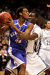 Kentucky guard Rajon Rondo (4) is guarded by Connecticut forward Denham Brown (33).  Connecticut defeated Kentucky 87-83 in the second round of the NCAA Tournament  at the Wachovia Center in Philadelphia, Pennsylvania on March 19, 2006.