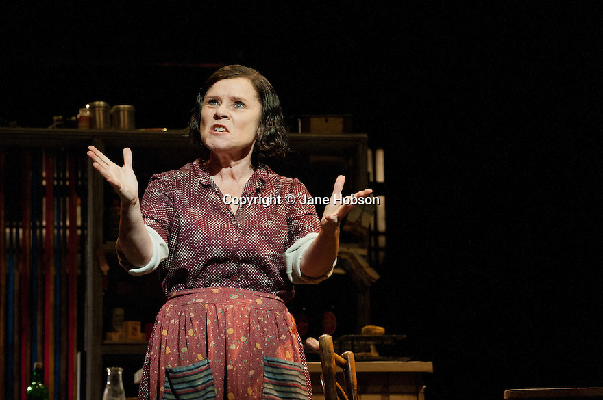 "London, UK. 19/03/2012. The Chichester Festival version of ""Sweeney Todd - the Demon Barber of Fleet Street"" opens at the Adelphi theatre. Michael Ball stars in the title role and Imelda Staunton plays Mrs Lovett.  Photo credit: Jane Hobson"