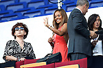 Helga Costa during Barcelona and AC Milan Champions League match on september 13th 2011...Photo: Cesar Cebolla / ALFAQUI
