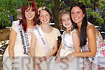 Leitrim Rose Martha Gilheaney with her rosebud Katie Ahern and Dubai Rose Elaine Rael with rosebud Dion Bauschlicher when they arrived at the Carlton Hotel, Tralee on Friday.