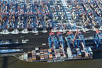 Deutschland, Hamburg, Altenwerder, Container Terminal, P & O Nedlloyd