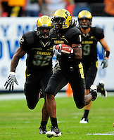 31 Aug 2008: Colorado wide receiver Josh Smith carries the ball against Colorado State. The Colorado Buffaloes defeated the Colorado State Rams 38-17 at Invesco Field at Mile High in Denver, Colorado. FOR EDITORIAL USE ONLY