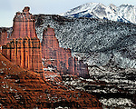 Fisher Towers near Moab Utah