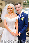 Elizabeth Horgan, daughter of John & Bridie, Dun Ard, Ballybunion and Micheal O'Halloran, son of Anthony & Kathleen, Doon, Ballyheigue who were married in St. John's Church, Ballybunion by Fr.Sean Hannafin on 28th June last. Best man was Jack Duggan and the groomsmen were Kevin Gaynor, Andrew Duggan, John Martin Horgan & Frank Gentleman. The bridesmaids were Breda Horgan, Siobhan Horgan, Hannah, Catherina  & Margaret O'Halloran. The flower girl was Eilish Horgan & the page boy was Brian Horgan, The reception was held in the Listowel Arms Hotel and the couple will live in Ballybunion.