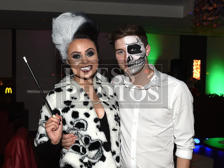 Ruth Matthews celebrating her 21st birthday in Brú with her boyfriend Robert Cashman. Photo: Colin Bell/pressphotos.ie