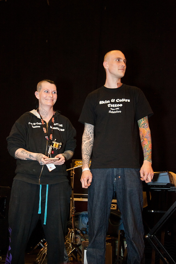 Tattoo Convention in Kolding 2011. Arranged by BodyMod.dk<br /> Monique from Skin &amp; Colors Tattoo