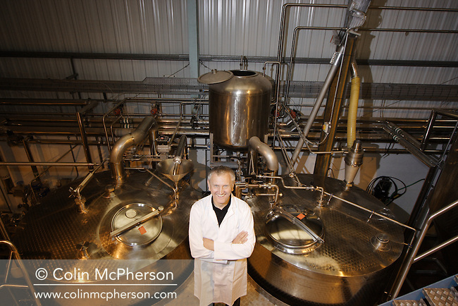 Brewer Keith Wright pictured at the George Wright Brewing Company in Rainford, Merseyside, north west England,  The company was a small independent craft brewery owned and run by award winning brewer Keith Wright. Established in 2003 it has been producing and selling a wide range of beers and ales at what is one the most advanced microbreweries in the UK.