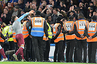 Aaron Cresswell throws his shirt to the fans during Chelsea vs West Ham United, Premier League Football at Stamford Bridge on 30th November 2019