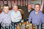 RALLY FANS: John Tarrant (Tralee), Domnic Kelly (six crosses), Donie Dillane and Michael Moran (Tralee) enjoying a jar on Saturday night in Galway city while attending the Galway International Rally last Weekend.