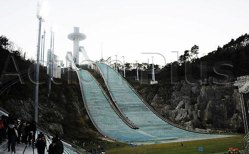 October 30th 2017, PYEONGCHANG, South Korea; Photo taken on October 30th, 2017 shows the Alpensia Ski jumping Center for the PyeongChang Winter Olympic Games
