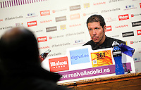 Simeone, Real Valladolid V Atletico de Madrid match of La Liga 2012/13. 17/02/2012. Victor Blanco/Alterphotos /NortePhoto