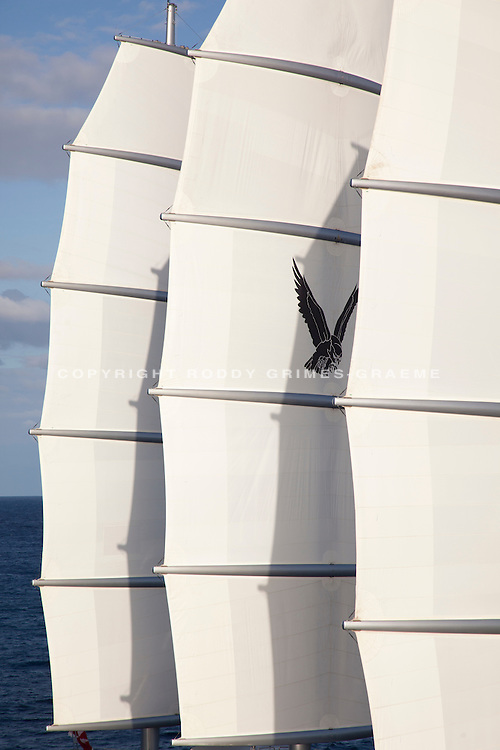 SY Maltese Falcon. Shot in Antigua for her charter brochure.