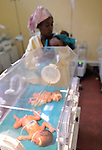 Newborn triples and their mom, neonatal wark Gisenyi District Hospital,.Northwest Rwanda....