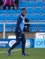 Anthony Stewart of Wycombe Wanderers smiles ahead of the Sky Bet League 2 match between Wycombe Wanderers and Newport County at Adams Park, High Wycombe, England on 2 January 2017. Photo by Andy Rowland.