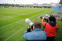 24th May 2014, Photographers capturing the action at a Republic of Ireland Squad Training ahead of their International match against Turkey on Sunday. Gannon Park, Malahide, Co Dublin. Picture credit: Tommy Grealy/actionshots.ie.