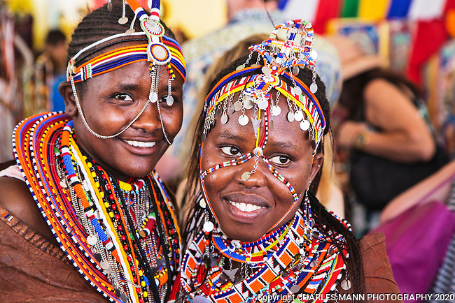 The 2015 Santa Fe International Folk Art Marketl, featuring scores of artists from a large number of countries,  has become the most popular summer event in a city already filled with a number of famous, world class cultural celebrations.Rado Herivonona Ambinintsoa and Sanaipei Loice Lolkinyiei both came from Kenya.