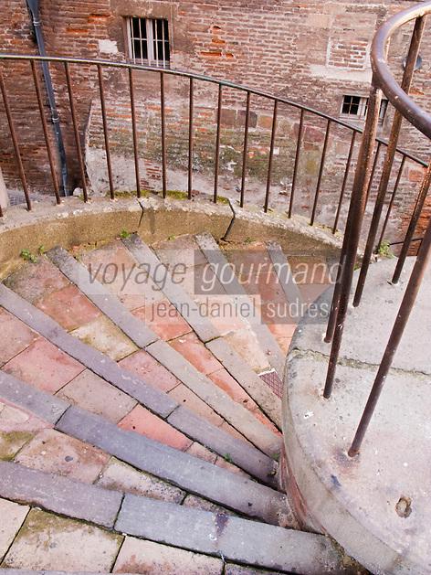 Europe/France/Midi-Pyrénées/81/Tarn/ Albi:Détail d' escalier dans les rues du vieil Albi