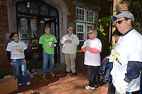 Group including Craig Sheppard, James Suitor and Christine Higgins, three in center of photo - Wellpoint Community Service Day | New Haven CT