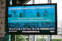 09-01-14, Netherlands, Rotterdam, TC Kralingen, ABNAMROWTT Press-conference, <br /> Photo: Henk Koster