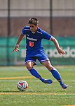 5 September 2014: University of Massachusetts River Hawks Forward Homero Morais, a Senior from Somerville, MA, in action against the St. Francis College Terriers at Virtue Field in Burlington, Vermont. The River Hawks defeated the Terriers 3-1, on their way to finishing the Morgan Stanley Smith Barney Windjammer Classic Men's Soccer Tournament with a 2-0 record, and being crowned as tournament champions on goal differential. Mandatory Credit: Ed Wolfstein Photo *** RAW (NEF) Image File Available ***