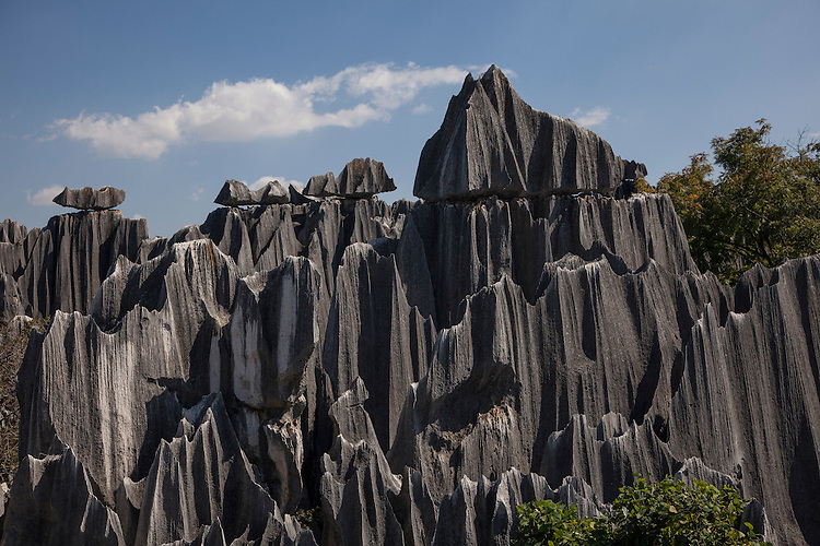 The Stone Forest, located southeast of Kunming, is a fantastic natural phenomena where various karst shapes have been formed.