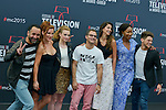 Cast poses at a photocall for the TV series 'Peps' during the 55th Monte Carlo TV Festival on June 13, 2015 in Monte-Carlo, Monaco