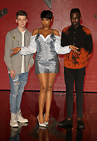 Jamie Miller, Jennifer Hudson and Mo Adeniran at The Voice - finalists red carpet at LH2 Studios, London on March 29th 2017<br /> CAP/ROS<br /> &copy; Steve Ross/Capital Pictures /MediaPunch ***NORTH AND SOUTH AMERICAS ONLY***
