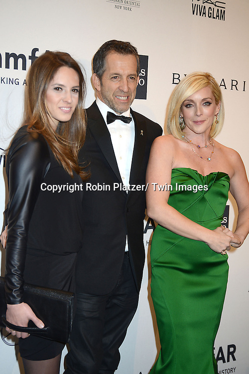 Emily Cole, Kenneth Cole and Jane Krakowski attend the amfAR New York Gala on February 5, 2014 at Cipriani Wall Street in New York City.