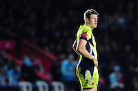 Sam James of Sale Sharks looks on. Aviva Premiership match, between Harlequins and Sale Sharks on January 7, 2017 at the Twickenham Stoop in London, England. Photo by: Patrick Khachfe / JMP