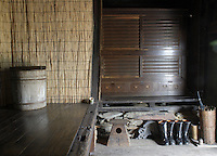 Old Japanese houses traditionally had a 'doma' or sunken foyer, usually at the entrance to the kitchen