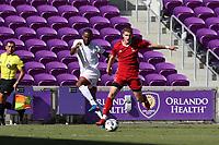Orlando, Florida - Wednesday January 17, 2018: Andre Morrison, Jordon Jones. Match Day 3 of the 2018 adidas MLS Player Combine was held Orlando City Stadium.