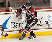 Makenna Newkirk (BC - 19), Lauren Kelly (NU - 2) - The Boston College Eagles defeated the Northeastern University Huskies 5-1 (EN) in their NCAA Quarterfinal on Saturday, March 12, 2016, at Kelley Rink in Conte Forum in Boston, Massachusetts.